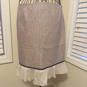 Cute two pattern stripe and polka dot skirt